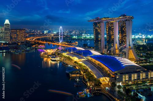 Plagát  Cityscape of Singapore