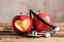 Red Apples And Stethoscope On ...