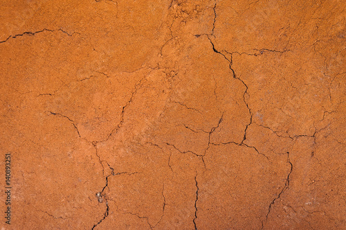 Fotobehang Stof Cracked and barren ground,dry soil textured background,form of soil layers,its colour and textures,texture layers of earth for background