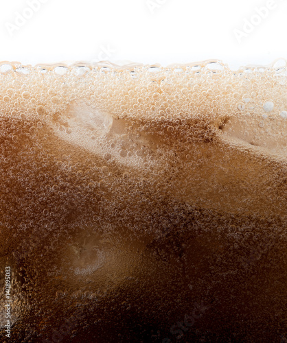Cola with ice cubes close up background Canvas-taulu