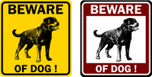Beware Of Dog Sign - Vector