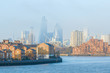 Hazy view of City of London