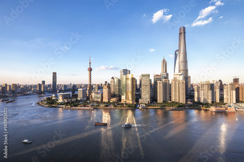 Foto op Aluminium Shanghai Shanghai cityscape and skyline