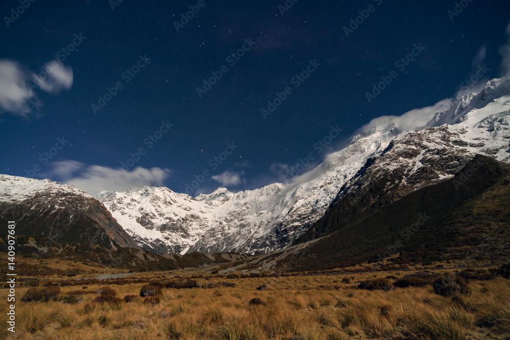 Mountain Range  | Aoraki/Mt Cook National Park, Canterbury, New Zealand Poster