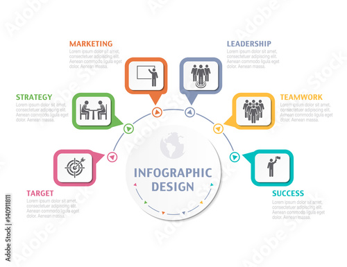 abstract infographic number options business overview visualization