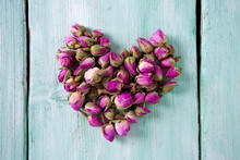 Heart Made Dried Rose Buds On ...