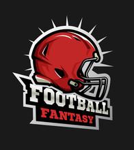American Football Modern Logo. Fantasy Football.