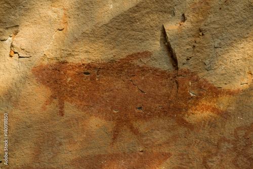 Cave Painting, Pha Taem National Park, Ubon Ratchathani Province, Thailand