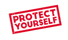 Protect Yourself Rubber Stamp....