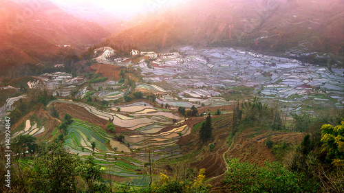Recess Fitting Rice fields Terraced rice fields in Yuanyang, China.