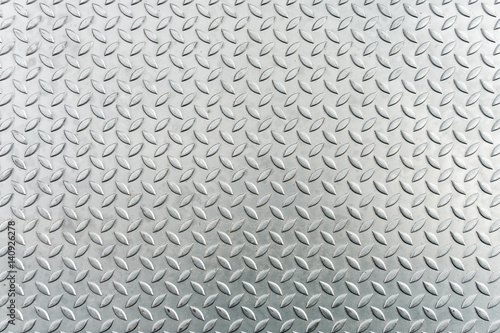 Türaufkleber Metall Steel checkerplate metal sheet, Metal sheet texture background.