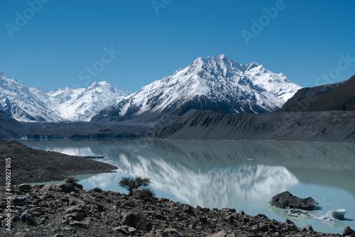Reflecting Tasman Glacier Lake | Aoraki / Mt Tableau sur Toile