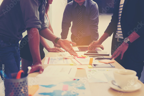 Fototapety, obrazy: Business People Meeting Corporate Teamwork Collaboration Concept