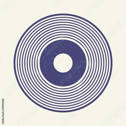 Fotomural Vinyl record style, lp record symbol