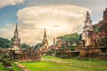 Ayutthaya City Ancient Ruins In Thailand