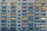 Fototapeta Miasto - Apartment building.