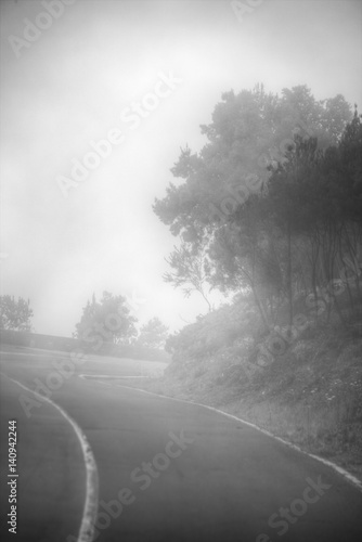 Fototapety, obrazy: road in the clouds in the mountains