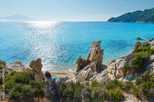 Summer Sithonia rocky coast, Greece. Canvas-taulu