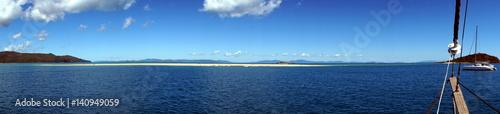 Na morzu, widok z łodzi
