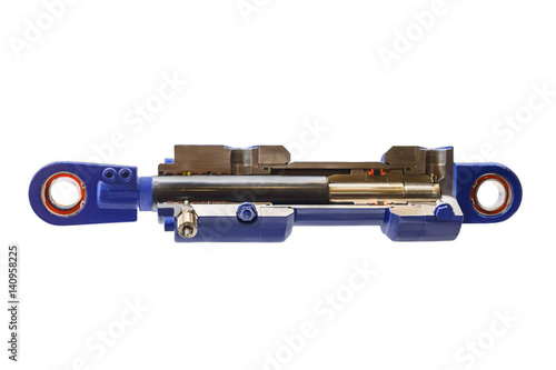 Fotomural  hydraulic cylinder cutaway allows you to understand the structure and operating