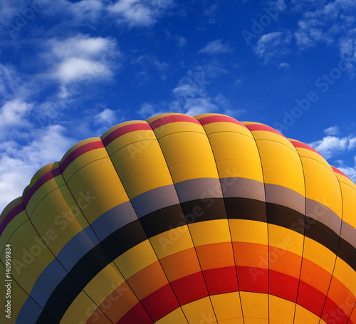 Foto op Canvas Luchtsport Hot air balloon on blue sky