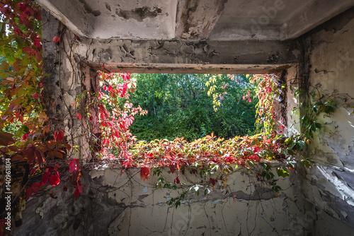 Papiers peints Les vieux bâtiments abandonnés Factory building in abandoned Pripyat city in Chernobyl Exclusion Zone, Ukraine