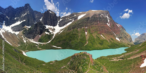 Valokuva  Cracker Lake Panorama - Glacier National Park - Montana