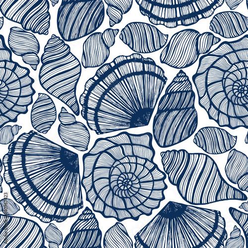 Carta da parati vector background with seashells