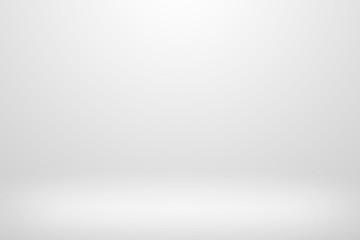 Gray gradient design. Empty white studio background.