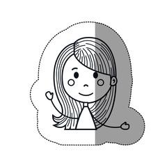 girl cartoon icon over white background. vector illustration