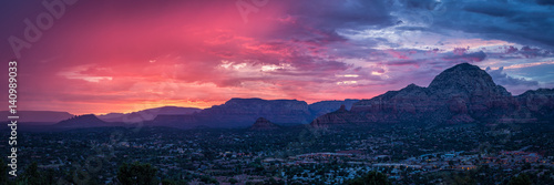 Canvas Prints Arizona Sunset Over Sedona Arizona