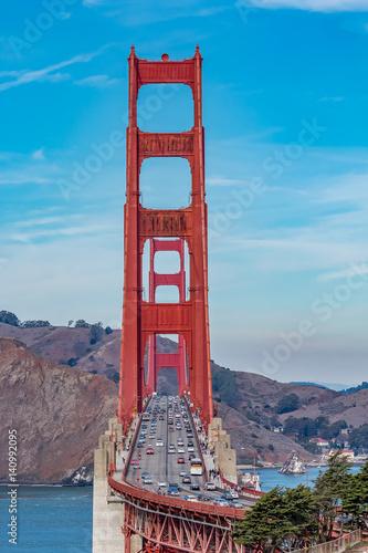 Keuken foto achterwand San Francisco Golden Gate bridge on a clear day