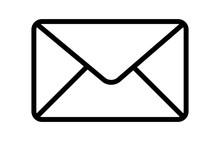 Message Envelope Or Letter Envelope Thin Line Art Vector Icon For Apps And Websites