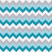 Chevron Pattern Seamless Vector Arrows Geometric Design White Aqua Light Blue Grey