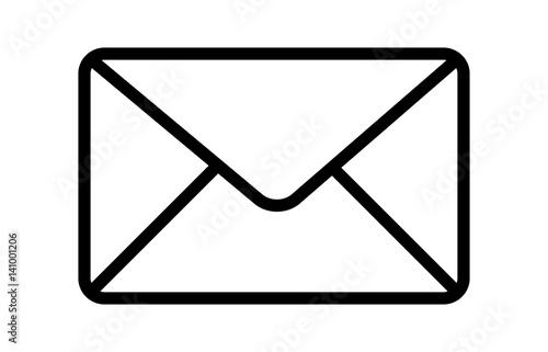 Cuadros en Lienzo Message envelope or letter envelope thin line art vector icon for apps and websi