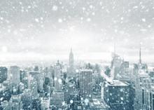New York City Skyline During A...