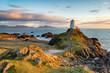 Leinwandbild Motiv Ynys Llanddwyn in Anglesey