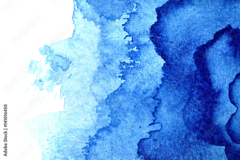 Fototapeta Watercolor background with stains
