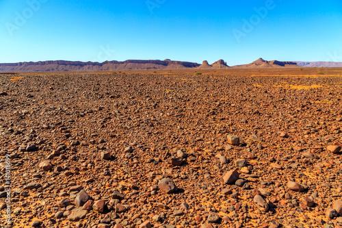 Foto op Canvas Australië Beautiful Moroccan landscape, Sahara desert, stones against the sky