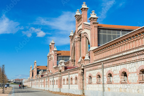 Cultural center Matadero Madrid Canvas Print