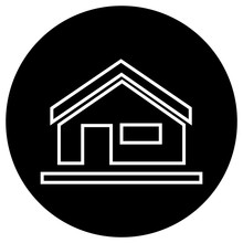 Flat Black House Icon
