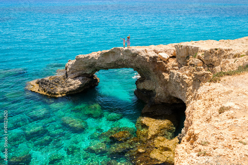 Foto op Plexiglas Cyprus Bridge of lovers in Сyprus