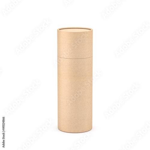 Carta da parati Kraft Brown paper tube tin can packaging Mockup, 3d rendering