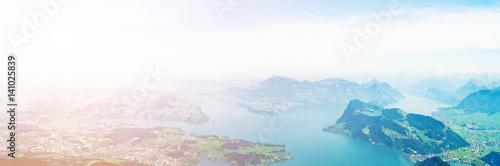 Fotobehang Lichtblauw Lake Lucerne