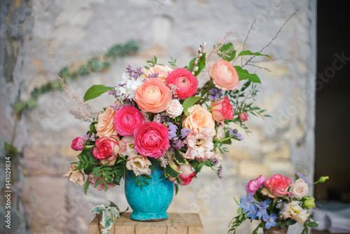 Fotomural Springlike wedding bouquet