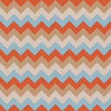 Chevron Pattern Seamless Vector Arrows Geometric Design Colorful Pastel Retro Vintage Orange Brown Beige Aqua Blue