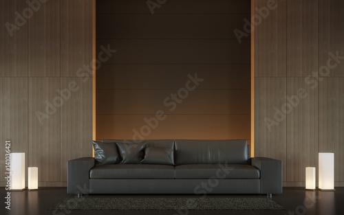 Modern Brown Living Room Interior Minimal Style 48d Rendering Image Best Living Room Brown Couch Minimalist
