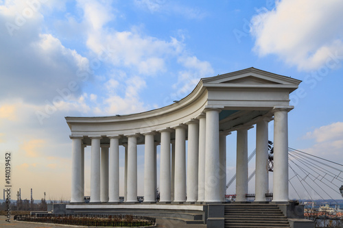 Canvas Prints Artistic monument Colonnade near vorontsov palace in Odessa, Ukraine