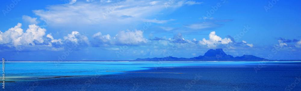 Photo Art Print Panoramic View Of Bora Bora Island In