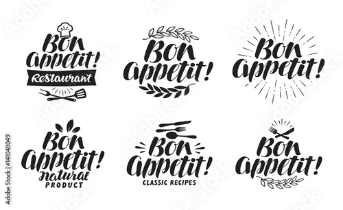Cuadros en Lienzo Bon appetit, label